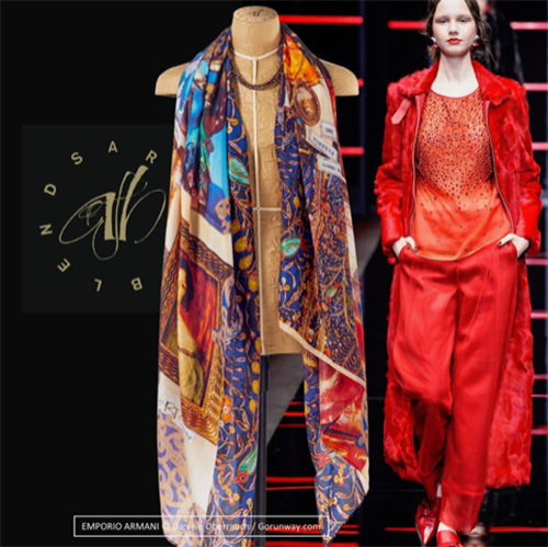 Silk scarf Opera