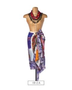 silk pongé printed scarf