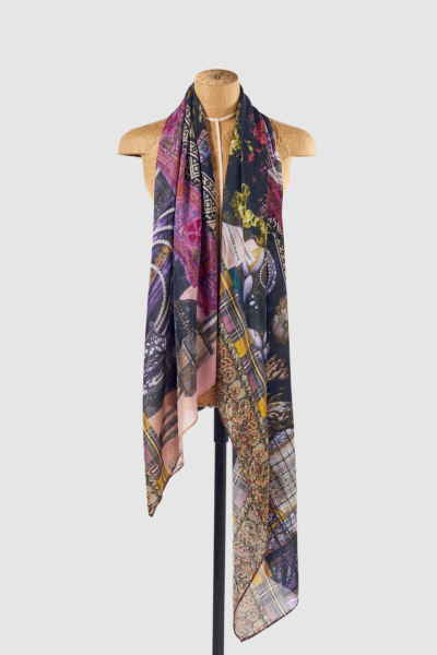 Silk scarf Tribute to Textiles