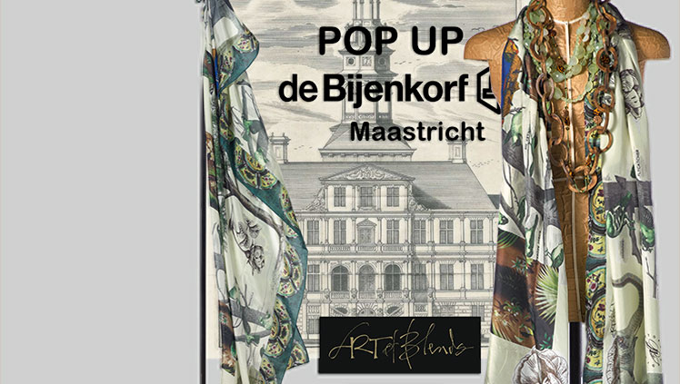 popup bijenkorf maastricht tefaf art of blends silk luxury scarves
