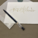 Handwritten gift card | personalize your gift