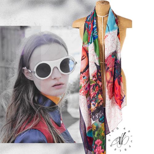 Mexico silk scarf