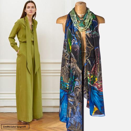 Oasis silk scarf