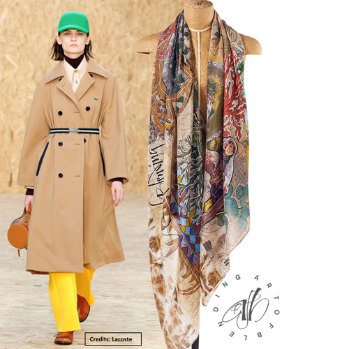 Wunderkammer silk scarf